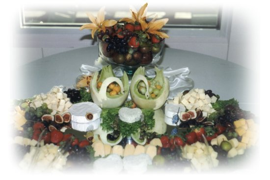 Wedding Reception Catering. Cheese trays.
